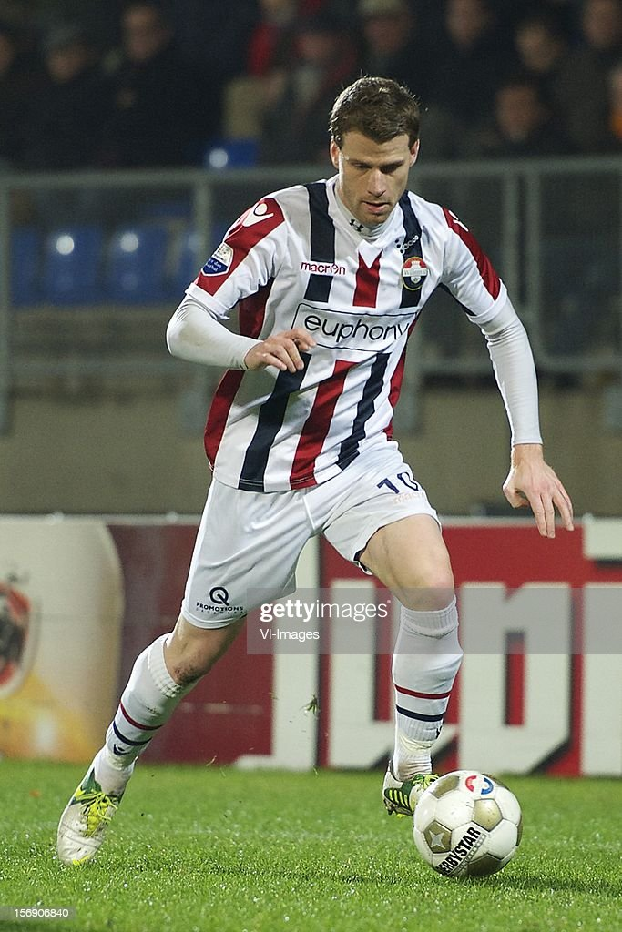 Mark Hocher of Willem II during the Dutch Eredivisie match between Willem II and Heracles Almelo at the Koning Willem II Stadium on November 24, 2012 in Tilburg, The Netherlands.