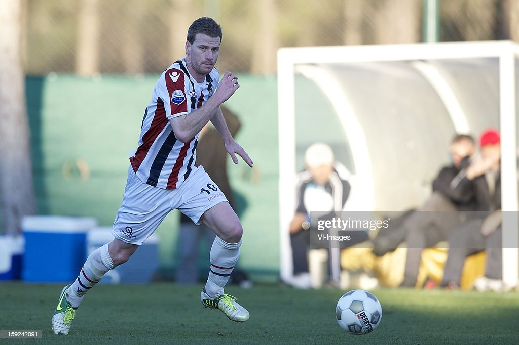 Mark Hocher of Willem II during the match between Willem II and Karabukspor on January 10, 2013 at Belek, Turkey.