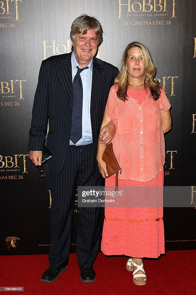 Mark Holden (L) and his wife Anna Holden attend the Melbourne premiere of 'The Hobbit: An Unexpected Journey' at Village Cinemas on December 18, 2012 in Melbourne, Australia.