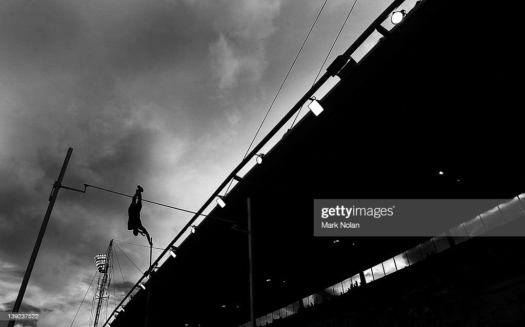Mark Holllis Of The USA Competes In Mens Pole Vault During Sydney Track Classic