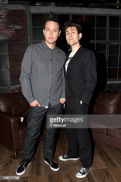 Mark Hoppus and Davey Havok during his visit to the fuse Studios on February 16 2011 in New York City