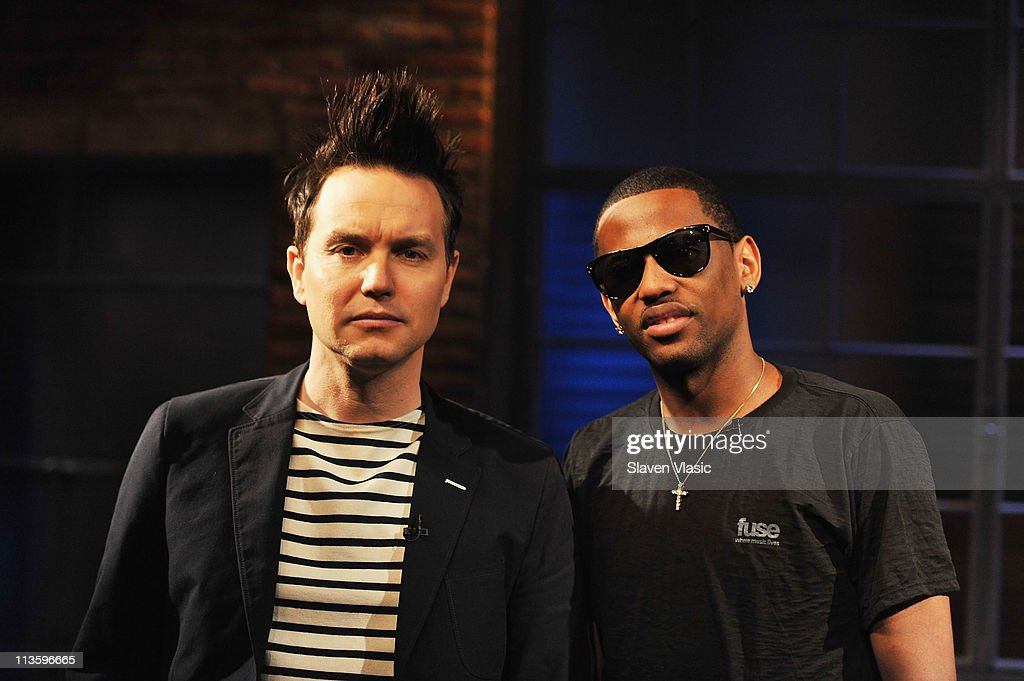 Mark Hoppus and rapper Fabolous pose at fuse Studios on May 3, 2011 in New York City.