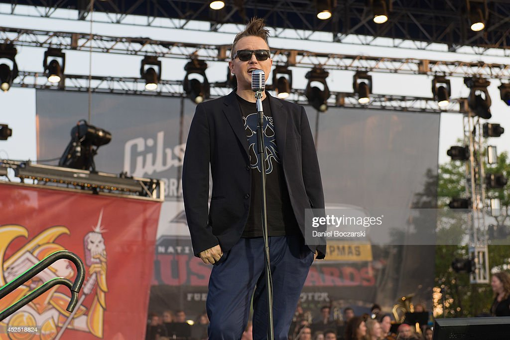 <a gi-track='captionPersonalityLinkClicked' href=/galleries/search?phrase=Mark+Hoppus&family=editorial&specificpeople=211529 ng-click='$event.stopPropagation()'>Mark Hoppus</a> attends the Alternative Press Music Awards at Rock and Roll Hall of Fame and Museum on July 21, 2014 in Cleveland, United States.