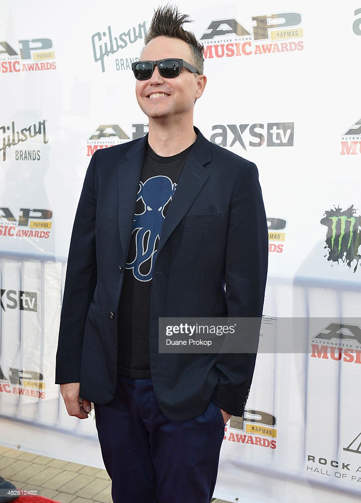 <a gi-track='captionPersonalityLinkClicked' href=/galleries/search?phrase=Mark+Hoppus&family=editorial&specificpeople=211529 ng-click='$event.stopPropagation()'>Mark Hoppus</a> of Blink 182 attends the 2014 Gibson Brands AP Music Awards at the Rock and Roll Hall of Fame and Museum on July 21, 2014 in Cleveland, Ohio.