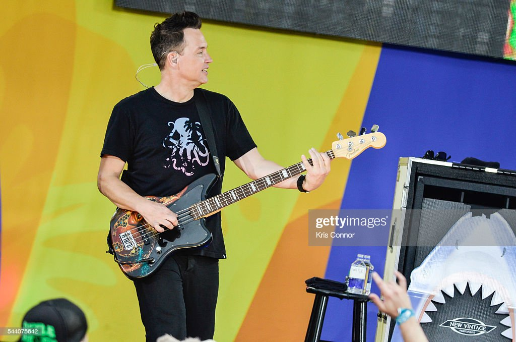 Mark Hoppus of Blink 182 perform on ABC's 'Good Morning America' Summer Concert Series in Central Park on July 1, 2016 in New York City.