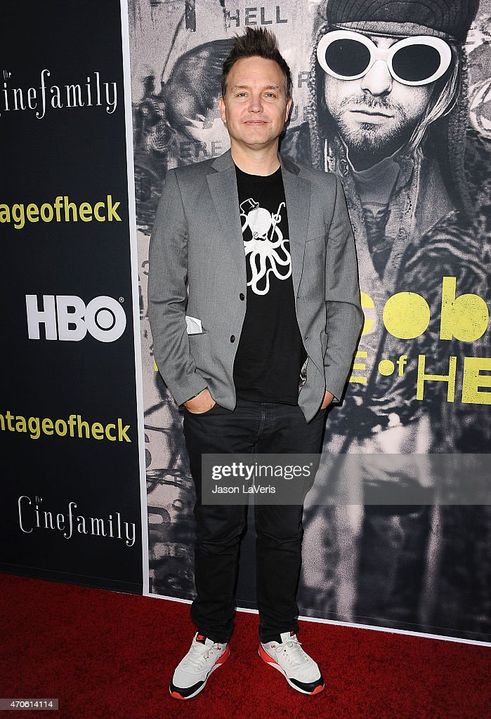 <a gi-track='captionPersonalityLinkClicked' href=/galleries/search?phrase=Mark+Hoppus&family=editorial&specificpeople=211529 ng-click='$event.stopPropagation()'>Mark Hoppus</a> of Blink-182 attends the premiere of HBO Documentary Films' 'Kurt Cobain: Montage Of Heck' at the Egyptian Theatre on April 21, 2015 in Hollywood, California.