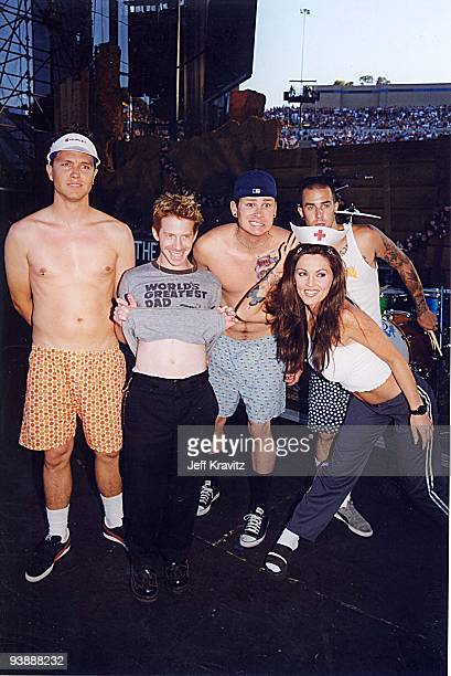 Mark Hoppus Seth Green Tom DeLonge Janine Lindemulder and Travis Barker
