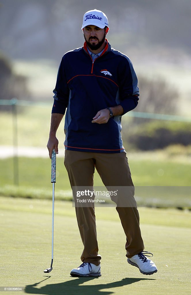 <a gi-track='captionPersonalityLinkClicked' href=/galleries/search?phrase=Mark+Hubbard&family=editorial&specificpeople=3329545 ng-click='$event.stopPropagation()'>Mark Hubbard</a> lines up a putt on the 11th green during round three of the AT&T Pebble Beach National Pro-Am at Monterey Peninsula Country Club (Shore Course) on February 13, 2016 in Pebble Beach, California.