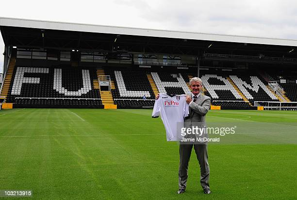 Mark Hughes is appointed as Fulham manager today at Craven Cottage on August 3 2010 in London England