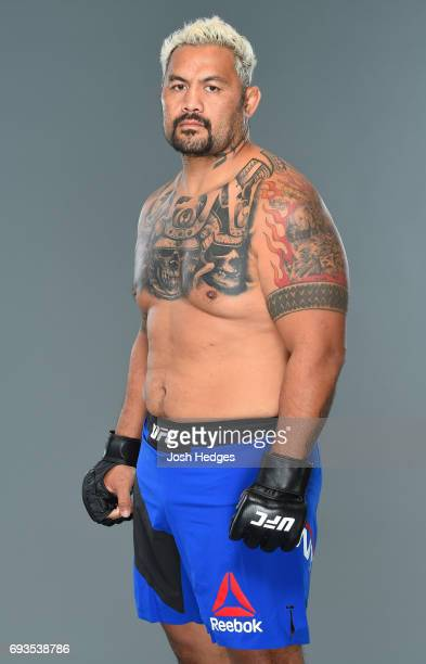 Mark Hunt of New Zealand poses for a portrait during a UFC photo session at the Langham Hotel on June 8 2017 in Auckland New Zealand