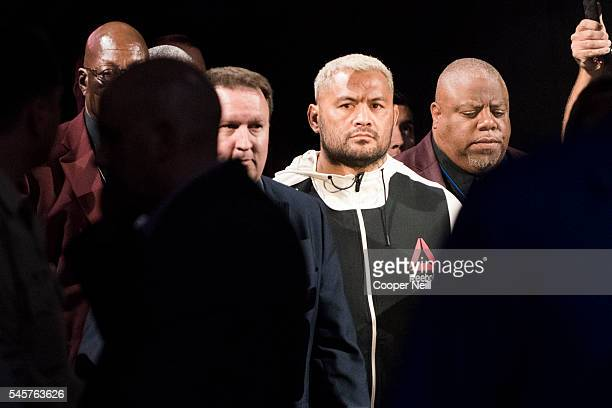 Mark Hunt walks to the Octagon during UFC 200 at TMobile Arena on July 9 2016 in Las Vegas Nevada