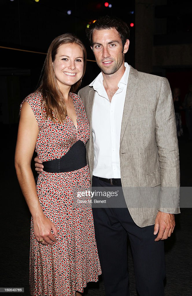 Mark Hunter and guest attend the 'Carousel - Press Night - Curtain Call' at Barbican Theatre on August 20, 2012 in London, England.