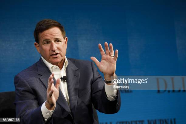 Mark Hurd cochief executive officer of Oracle Corp speaks during the Wall Street Journal DLive global technology conference in Laguna Beach...