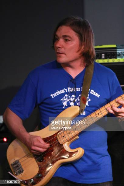 Mark Ibold of the band Sonic Youth performs at Apple Store Soho on June 9 2009 in New York New York