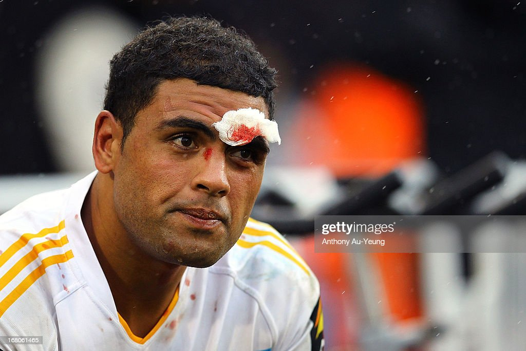 Mark Ioane of the Titans looks on during the round eight NRL match between the New Zealand Warriors and the Gold Coast Titans at Mt Smart Stadium on May 5, 2013 in Auckland, New Zealand.