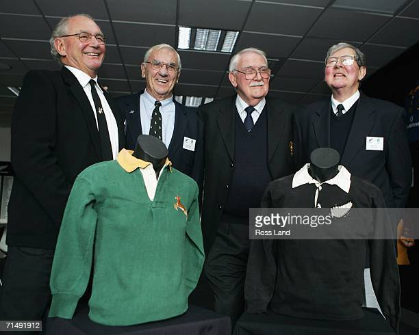 Mark Irwin Don MacIntosh Nev MacEwan and Bill Clark all surviving members of the 1956 All Black team who won the first ever series against the...