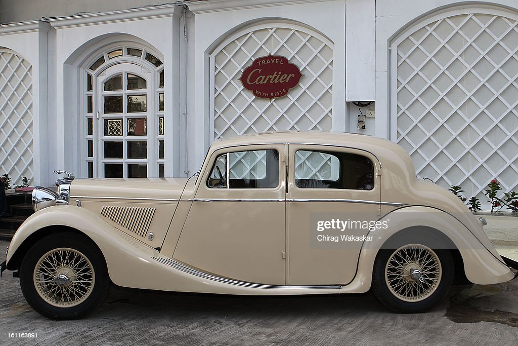 Mark IV Jaguar is displayed during Cartier 'Travel With Style' Concours 2013 Opening at Taj Lands End on February 9, 2013 in Mumbai, India.