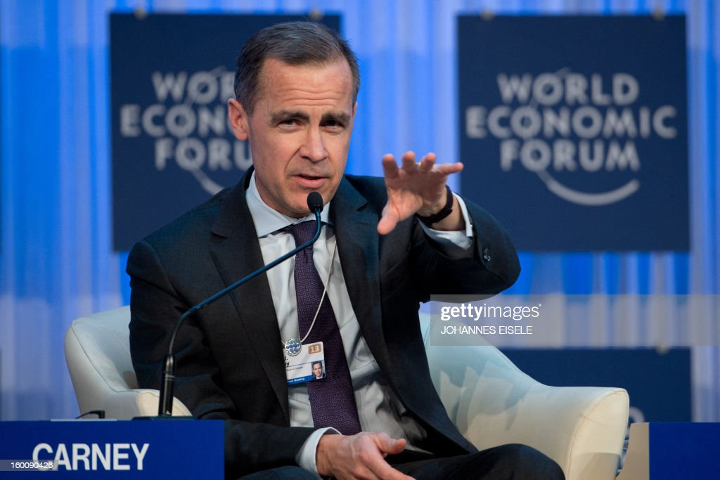 Mark J. Carney, Governor of the Bank of Canada, attends a session of the World Economic Forum Annual Meeting (WEF) on January 26, 2013 at the Swiss resort of Davos.