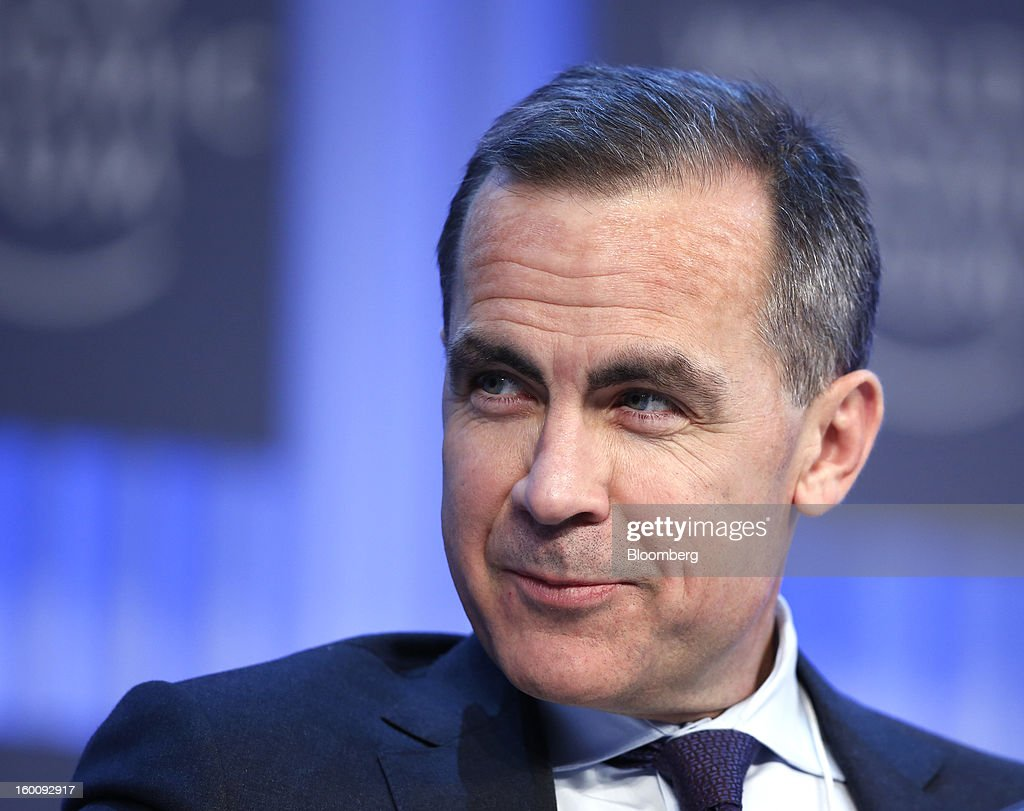 Mark J. Carney, governor of the central bank of Canada, pauses during a session on the final day of the World Economic Forum (WEF) in Davos, Switzerland, on Saturday, Jan. 26, 2013. World leaders, influential executives, bankers and policy makers attend the 43rd annual meeting of the World Economic Forum in Davos, the five day event runs from Jan. 23-27. Photographer: Jason Alden/Bloomberg via Getty Images