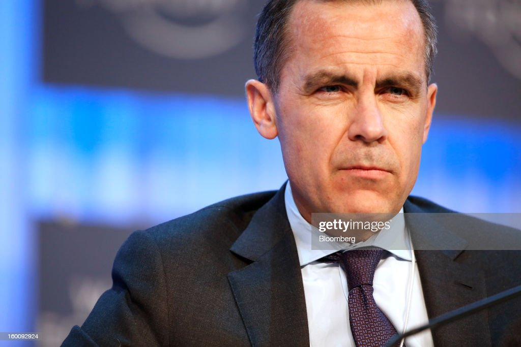 Mark J. Carney, governor of the central bank of Canada, reacts during a session on the final day of the World Economic Forum (WEF) in Davos, Switzerland, on Saturday, Jan. 26, 2013. World leaders, influential executives, bankers and policy makers attend the 43rd annual meeting of the World Economic Forum in Davos, the five day event runs from Jan. 23-27. Photographer: Jason Alden/Bloomberg via Getty Images
