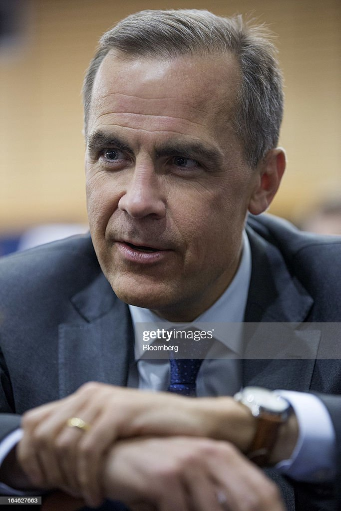 Mark J. Carney, governor of the central bank of Canada, sits in the audience before a financial and economic event at the London School of Economics (LSE) in London, U.K., on Monday, March 25, 2013. The European Union's decision to recapitalize Cypriot banks by inflicting losses on depositors and senior bondholders is triggering investor concern about the knock-on effects for bank funding across the region. Photographer: Jason Alden/Bloomberg via Getty Images