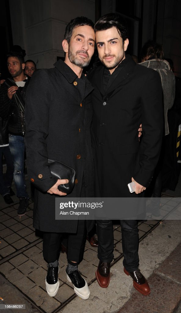Mark Jacobs sighting leaving Kate Moss party on November 15, 2012 in London, England.