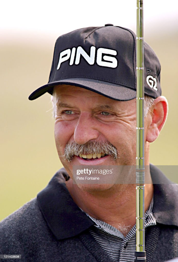 Mark James during the Senior British Open practice day at the Royal Portrush Golf Club. - mark-james-during-the-senior-british-open-practice-day-at-the-royal-picture-id121403638