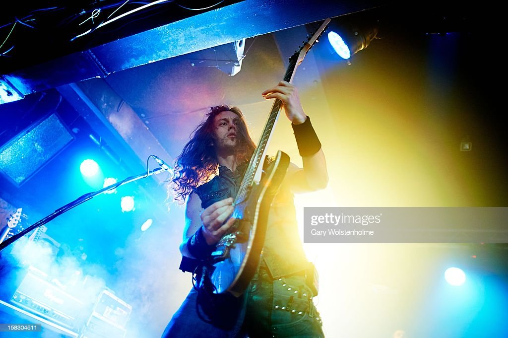 Mark Jansen of Epica performs at the Corporation on December 12, 2012 in Sheffield, England.