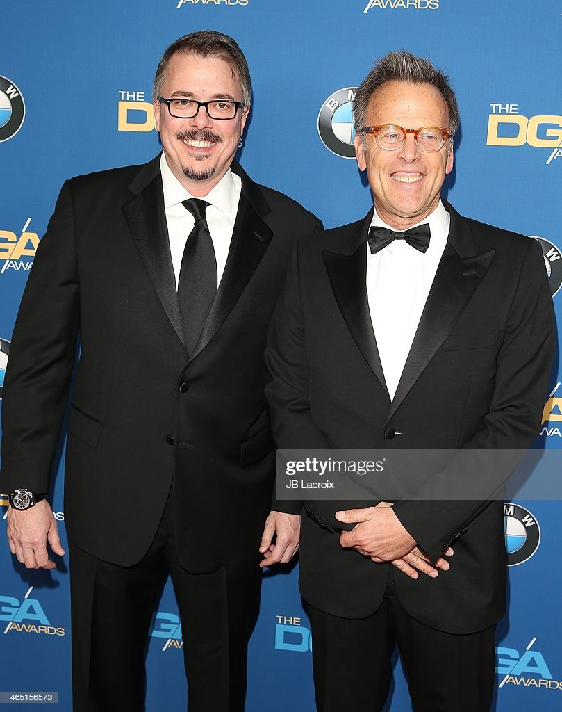 Mark Johnson and Vince Gilligan attend the 66th Annual Directors Guild Of America Awards held at the Hyatt Regency Century Plaza on January 25, 2014 in Century City, California.