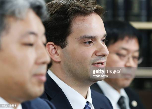 Mark Karpeles the head of MtGoX Co once the world's largest bitcoin digital currency exchange attends a press conference in Tokyo on July 11...