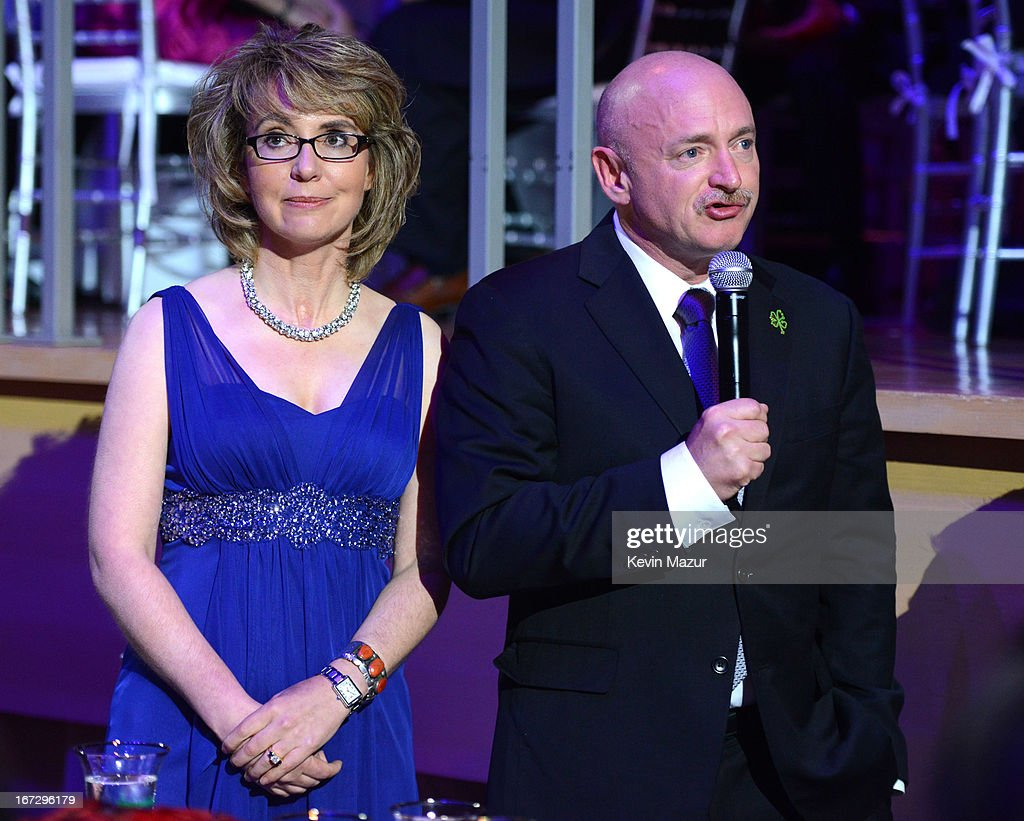 Mark Kelly and Gabrielle Giffords attend TIME 100 Gala, TIME'S 100 Most Influential People In The World at Jazz at Lincoln Center on April 23, 2013 in New York City.
