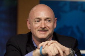 Mark Kelly astronaut and husband of Rep Gabrielle Giffords talks about his plans for the upcoming shuttle mission at the Johnson Space Center...