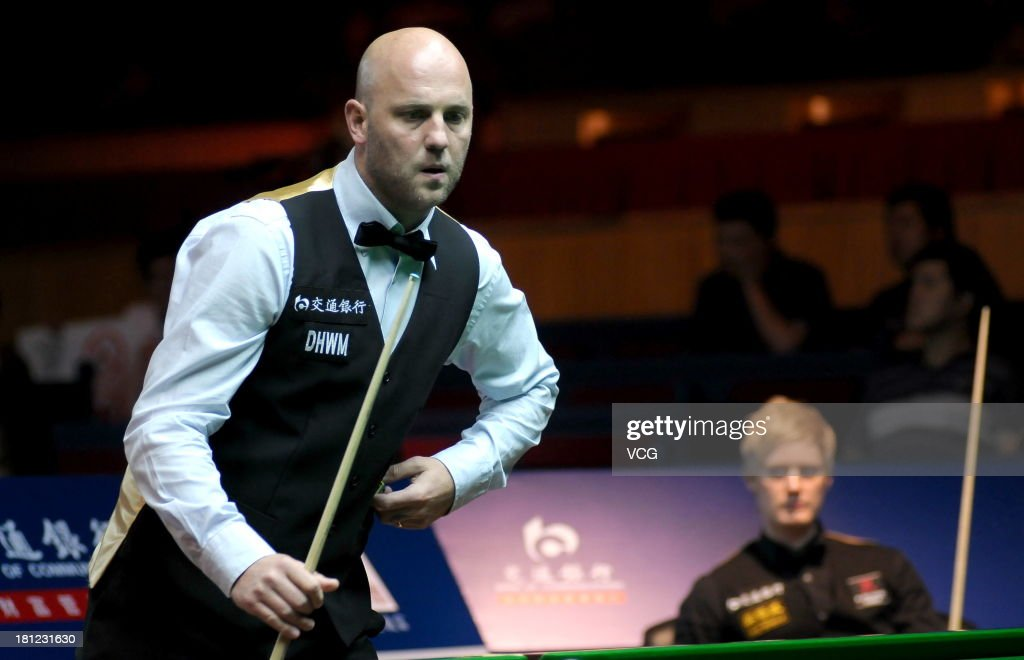 Mark King of England looks on in the match against Neil Robertson of Australia on day four of the 2013 World Snooker Shanghai Master at Shanghai Grand Stage on September 19, 2013 in Shanghai, China.