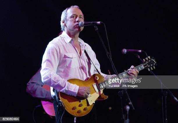 Mark Knopfler during the Lonnie Donegan tribute concert at the Royal Albert Hall in central London Some of the biggest names in rock took part in a...