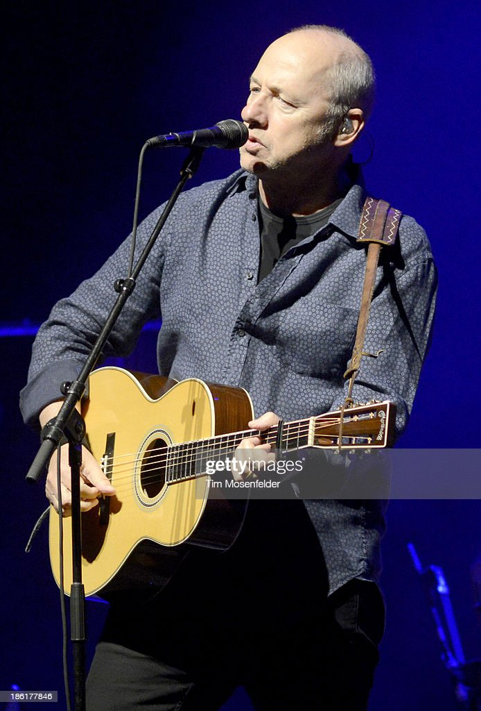 Mark Knopfler performs in support his Privateering release at The Fox Theatre on October 28, 2013 in Oakland, California.