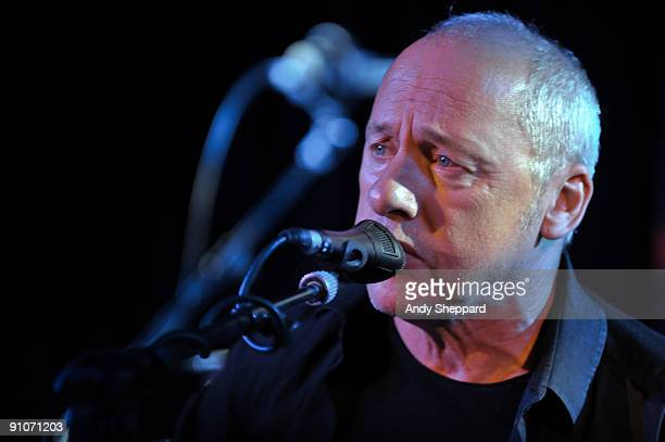Mark Knopfler performs on stage at Bush Hall on September 23 2009 in London England