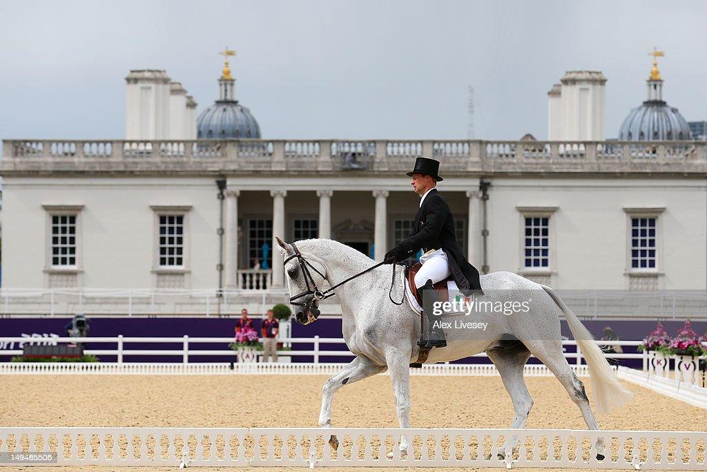 Mark Kyle of Ireland riding Coolio competes in the Dressage Equestrian event on Day 2 of the London 2012 Olympic Games at Greenwich Park on July 29, 2012 in London, England.