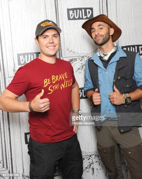 Mark Laivins and Coyote Peterson attend Build to discuss 'Coyote Peterson's Brave Adventures Wild Animals In A Wild World' at Build Studio on...
