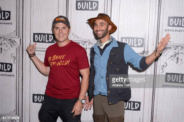 Mark Laivins and Coyote Peterson discuss 'Coyote Peterson's Brave Adventures Wild Animals In A Wild World' at Build Studio on September 15 2017 in...