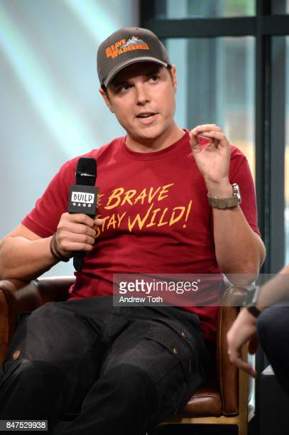 Mark Laivins discusses 'Coyote Peterson's Brave Adventures Wild Animals In A Wild World' at Build Studio on September 15 2017 in New York City