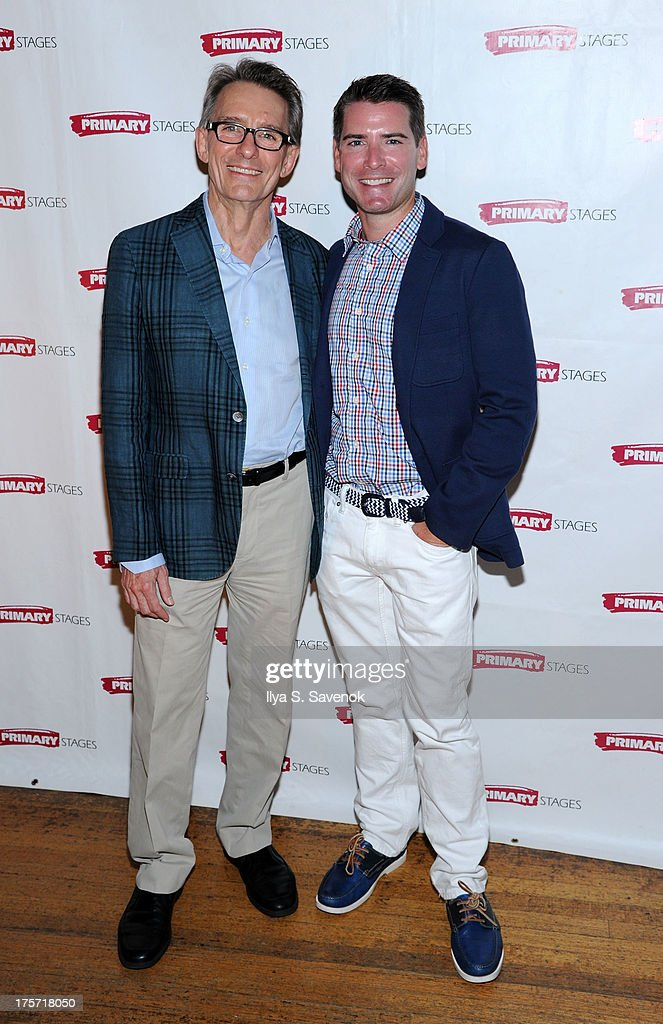 Mark Lamos and Chad Beguelin attend 'Harbor' Opening Night After Party at Park Avenue Armory on August 6, 2013 in New York City.