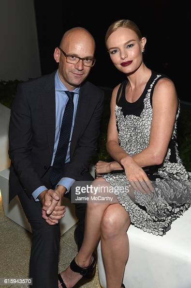 Mark Langer and actress Kate Bosworth attend HUGO BOSS and GUGGENHEIM celebration of the 20th Anniversary of the HUGO BOSS Prize at Solomon R...