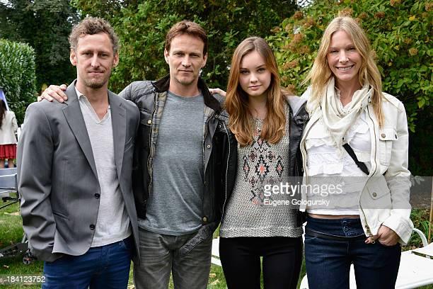 Mark Larkin Stephen Moyer Liana Liberato and Shana Betz attend the 21st Annual Hamptons International Film Festival on October 11 2013 in East...