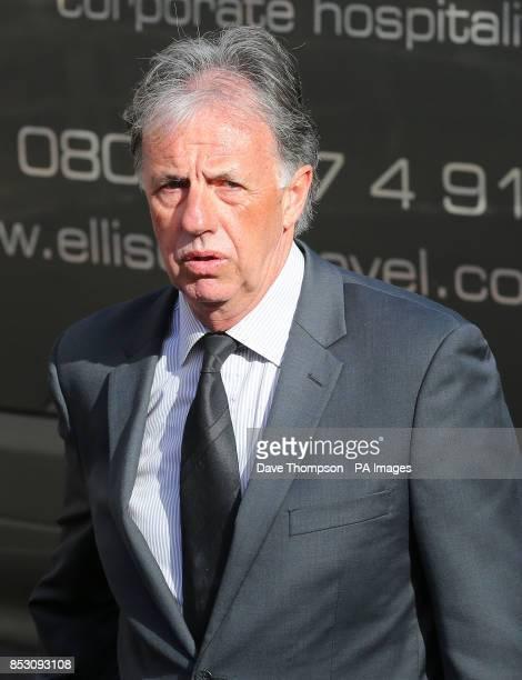 Mark Lawrenson arrives for the funeral of Sir Tom Finney at St JohnOtildes Parish Church Preston