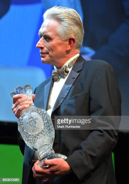 Mark Lichtenhein Chairman of the Ladies European Tour is interviewed on stage by host Hazel Irvine at the Scottish Sports Awards as Catriona Matthew...