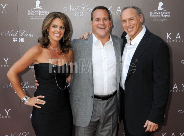 8b3915531 HOLLYWOOD, CA - JULY 22: Mark Light, CEO of Kay Jewelers, wife Andie Light  and Neil Lane arrive at jewelry designer Neil Lane's debut of his new  Bridal ...