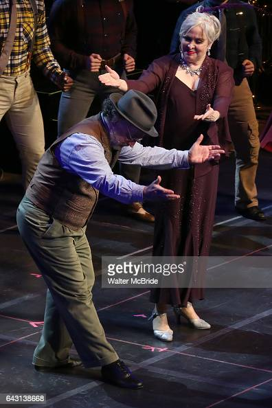 Mark LinnBaker and Nancy Opel during the Manhattan Concert Productions 25th Anniversary concert performance of 'Crazy for You' at David Geffen Hall...
