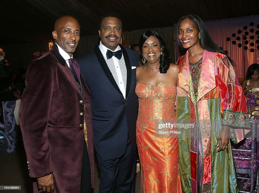 Mark Little, Bishop Kenneth C. Ulmer, Togetta Ulmer and Tegra Little attend the Faithful Central Bible Church Event on October 19, 2012 in Century City, California.