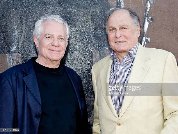 Mark Lonow and Budd Friedman attend the Comics for Conservation Benefit Show for The Wyland Foundation at Hollywood Improv on June 21 2013 in...