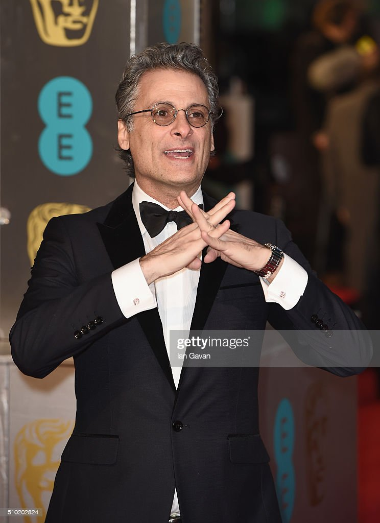 <a gi-track='captionPersonalityLinkClicked' href=/galleries/search?phrase=Mark+Mangini&family=editorial&specificpeople=5484568 ng-click='$event.stopPropagation()'>Mark Mangini</a> attends the EE British Academy Film Awards at the Royal Opera House on February 14, 2016 in London, England.